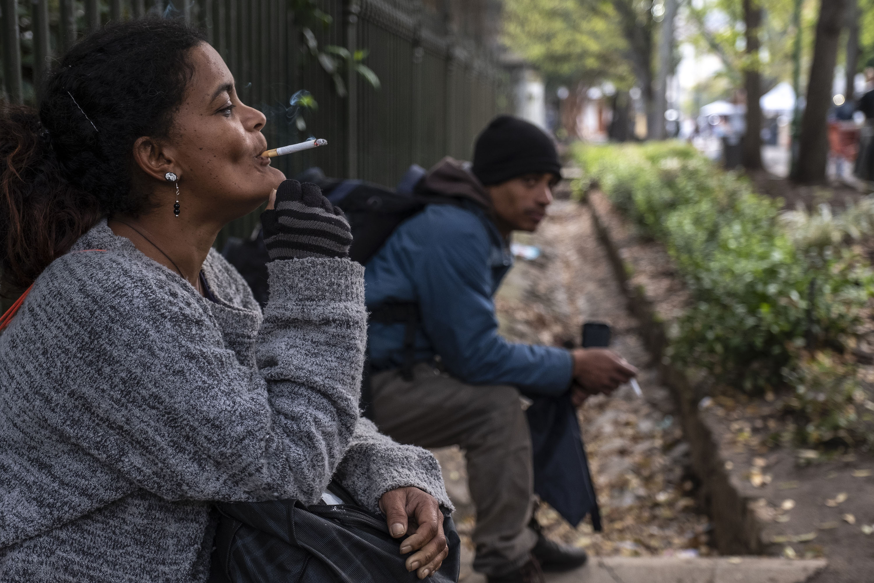 28 August 2019: Carin Gelderbloem (left) and Rameez Kemp say it feels to them as though the authorities want them to be out in the cold during the winter months.