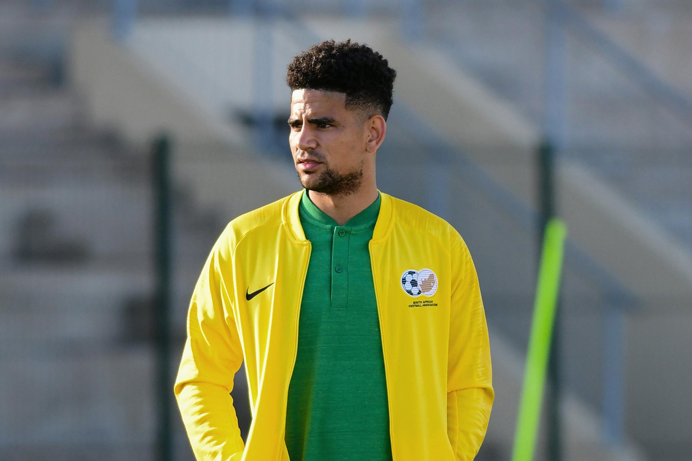 30 May 2019: Keagan Dolly during a Bafana Bafana media open day and coaching clinic at the Sugar Ray Xulu Stadium in Durban, KwaZulu-Natal. (Photograph by Darren Stewart/Gallo Images)