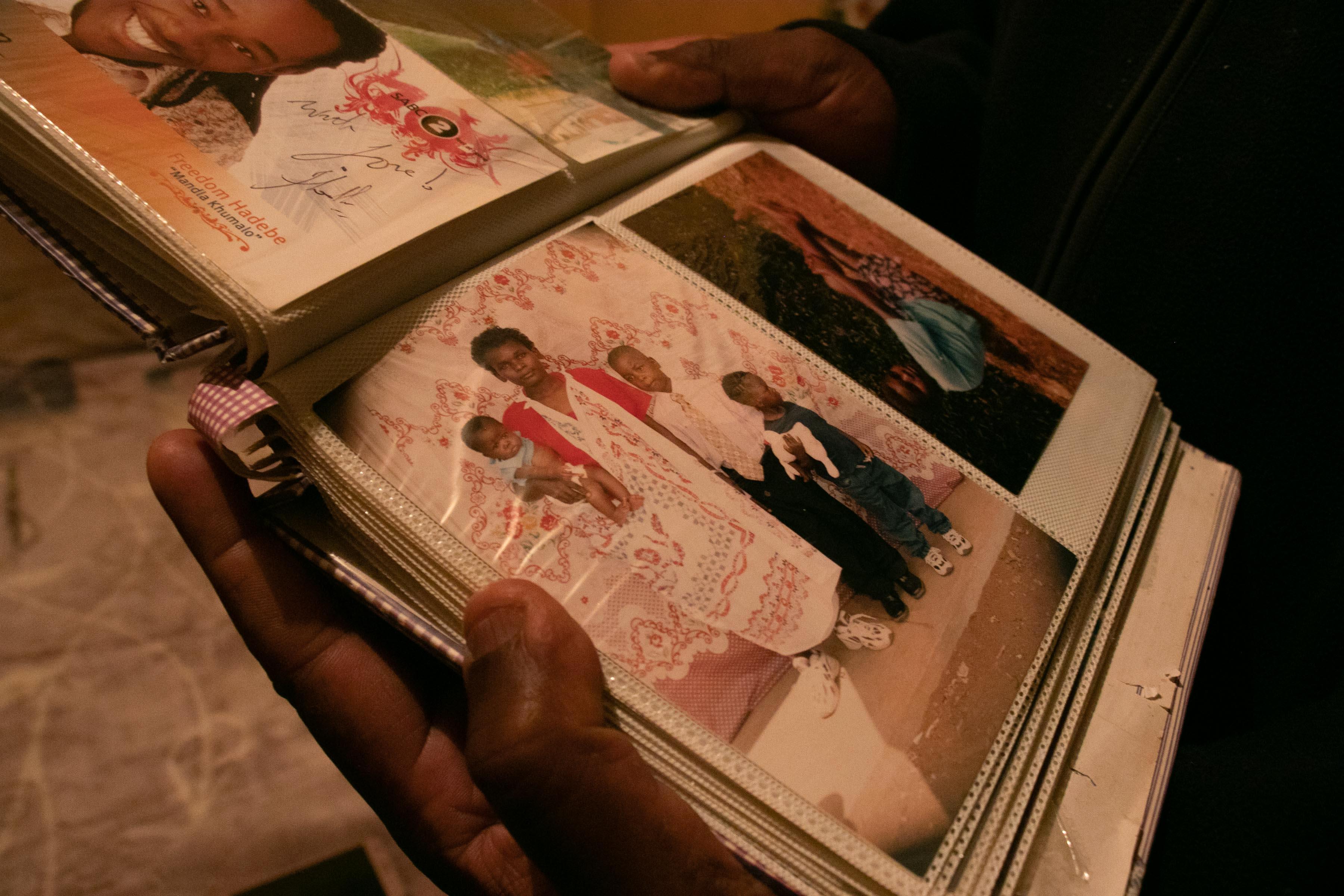 2 October 2019: Edmond Patrick Ndlovu's album of family photos.