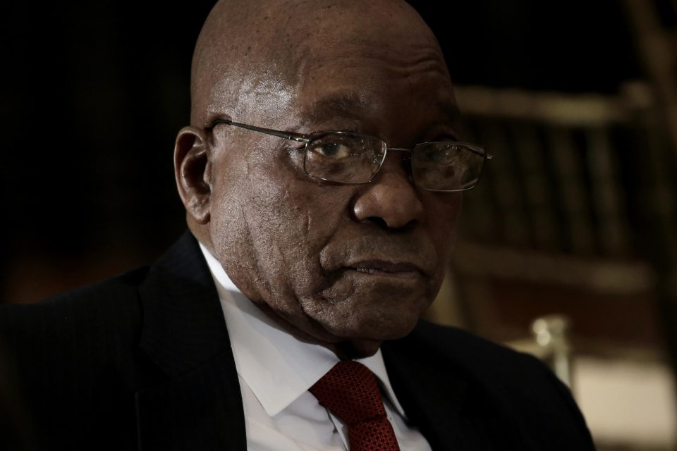 20 September 2016: Jacob Zuma pictured three years ago. On 11 October 2019, the Pietermaritzburg high court was unanimous in its decision to deny Zuma a permanent stay of prosecution. (Photograph by Peter Foley – Pool/Getty Images)