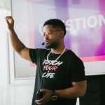 14 September 2019: Prince Kaybee sharing his journey and how music changed his life at a music workshop at the iStore in Sandton, Johannesburg. (Photograph by Sabelo Mkhabela)