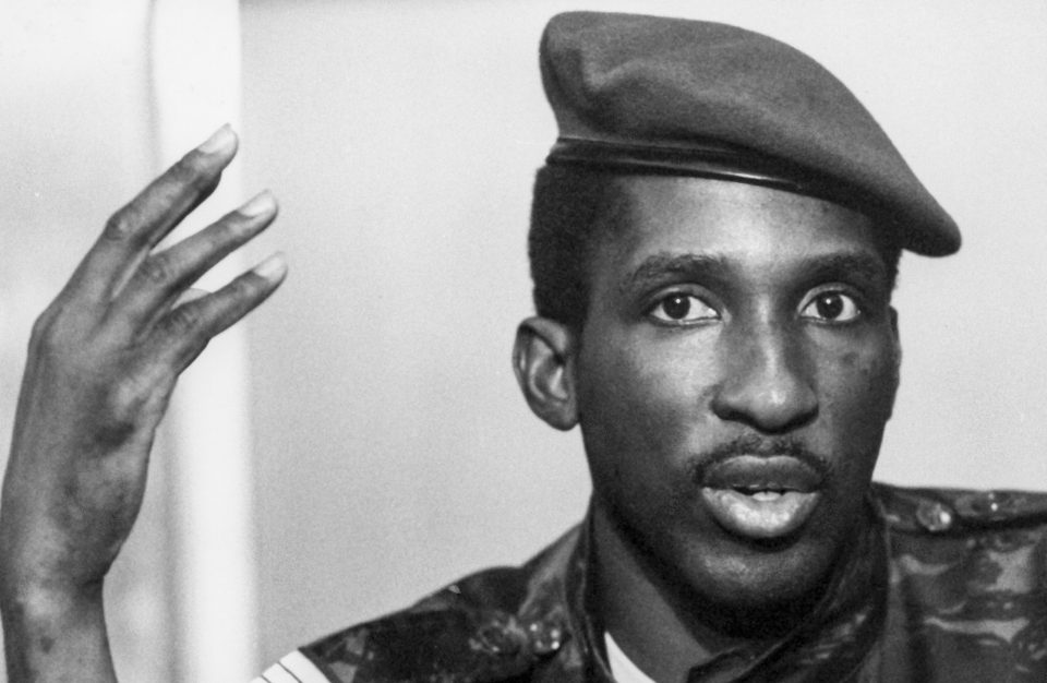6 October 1983: A portrait of the president of Burkina Faso, Thomas Sankara, taken during a press conference. (Photograph by Michel Baret/Gamma-Rapho via Getty Images)
