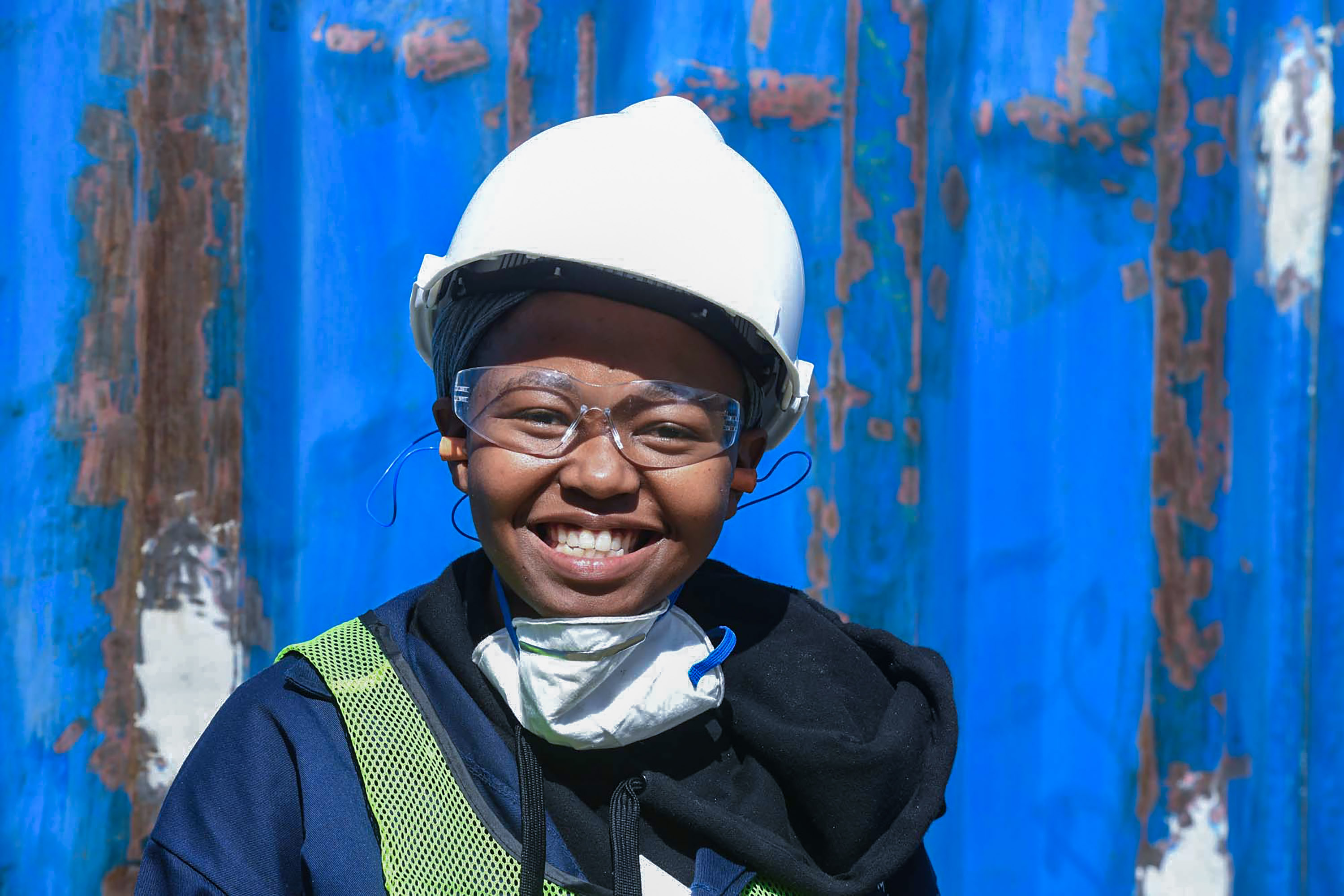 23 September 2019: Limpho Rodolo, one of the architecture students who is volunteering her time to work on the project.