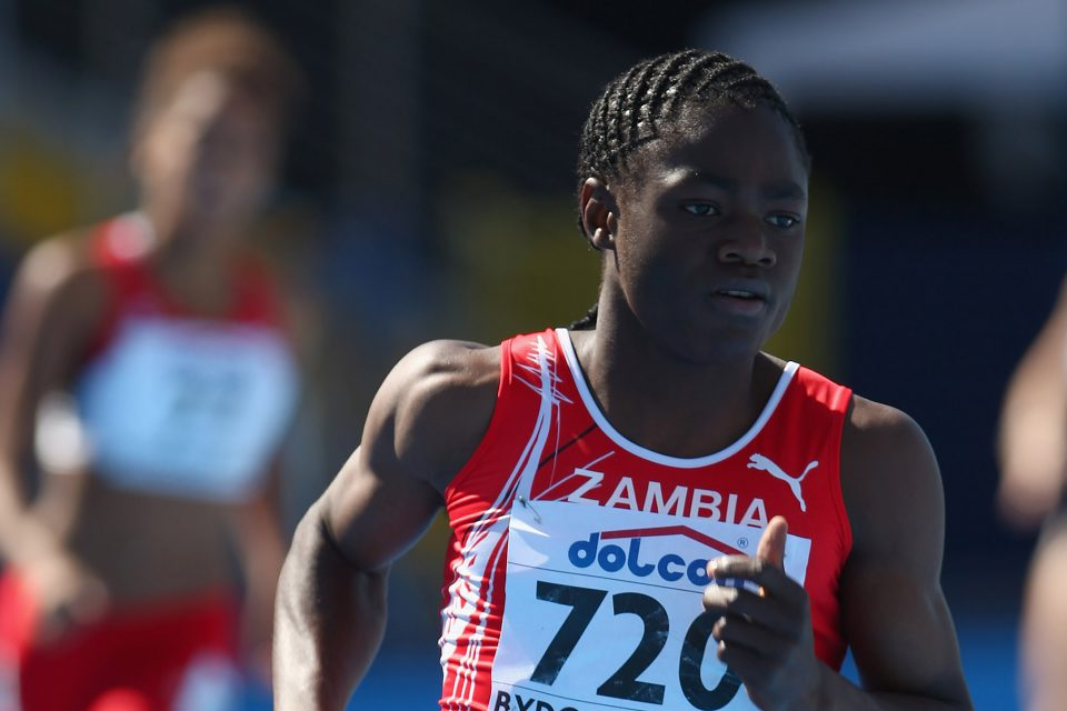 8 July 2008: Racheal Nachula of Zambia during the heats for the women's 400m at the World Junior Championships in Poland. Nachula is now a footballer who has represented her country at the highest level. (Photograph by Michael Steele/Getty Images)