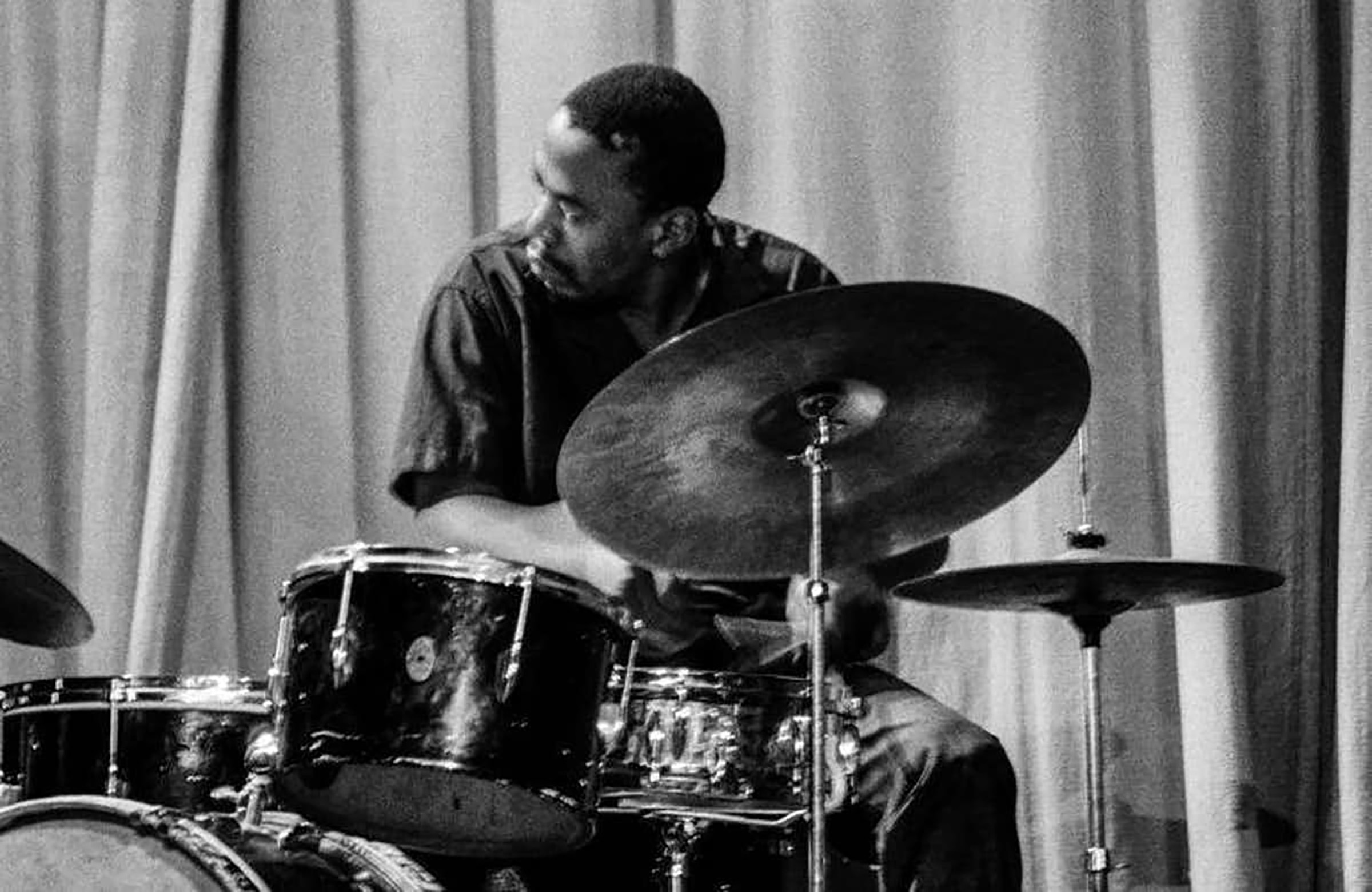 1964: Legendary drummer Louis Moholo-Moholo is the sole surviving member of the Blue Notes.