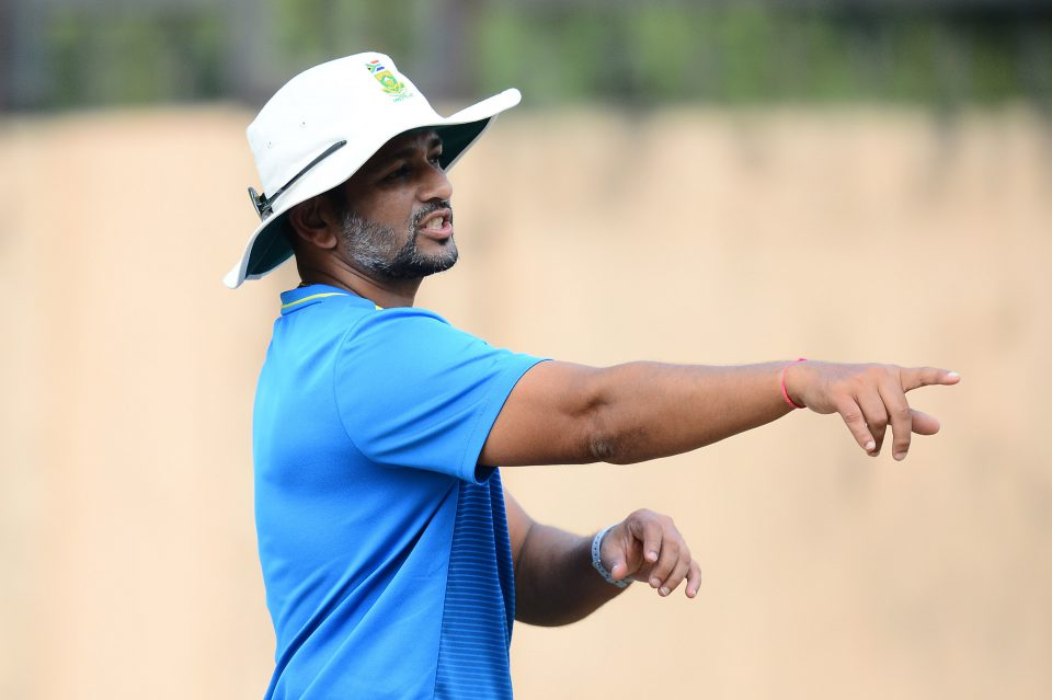 16 October 2019: Amol Muzumdar, South Africa's batting coach for the Test series in India, during a training session at the JSCA International Stadium Complex in Ranchi, India. (Photograph by Isuru Sameera Peris/Gallo Images)