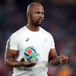 27 October 2019: Springbok assistant coach Mzwandile Stick during South Africa's 2019 Rugby World Cup semifinal against Wales at the International Stadium Yokohama in Yokohama, Kanagawa, Japan. (Photograph by Steve Haag/Gallo Images)