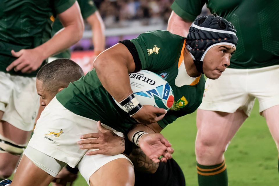 21 September 2019: Cheslin Kolbe of the Springboks during the Rugby World Cup 2019 Pool B match between South Africa and New Zealand at International Stadium Yokohama in Japan. (Photograph by Wessel Oosthuizen/Gallo Images)