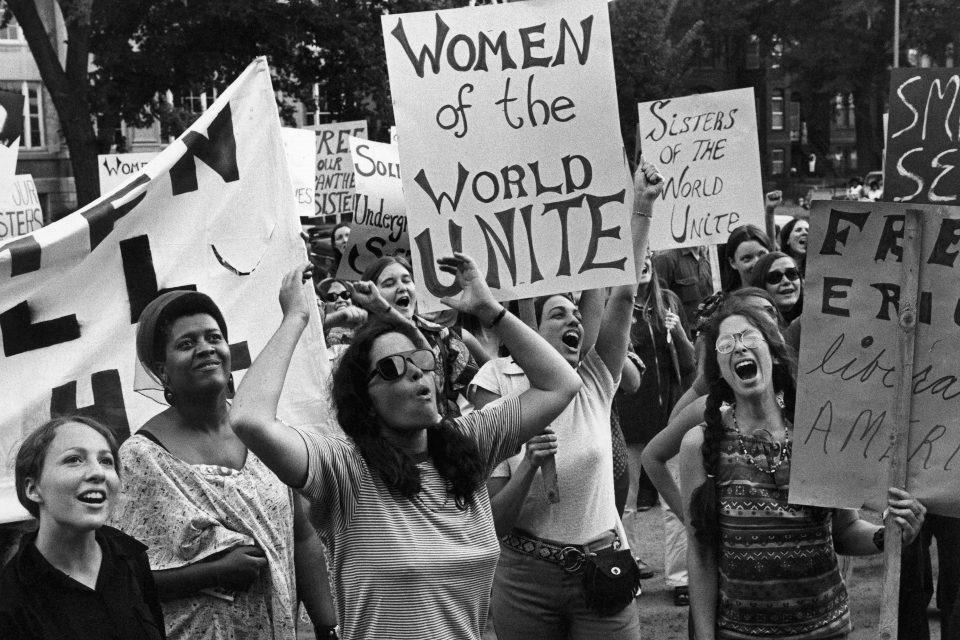 26 August 1970: A women's liberation movement march in Washington, United States. (Photograph by Don Carl STEFFEN/Gamma-Rapho via Getty Images)