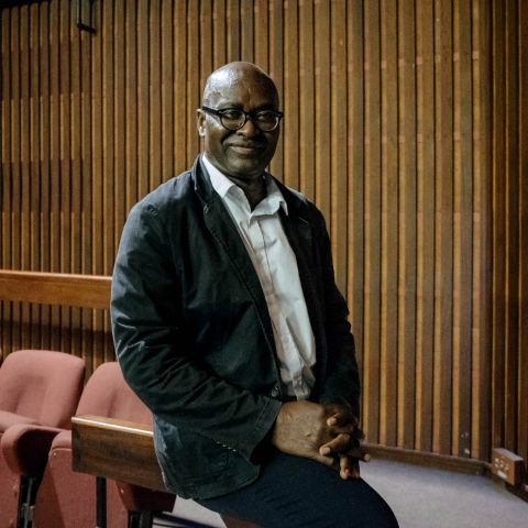 3 October 2019: Philosopher, political theorist and public intellectual Achille Mbembe after presenting the Ruth First Memorial Lecture at the Wits Institute for Social and Economic Research. He spoke about migrancy, populism and xenophobia. (Photograph by James Puttick)