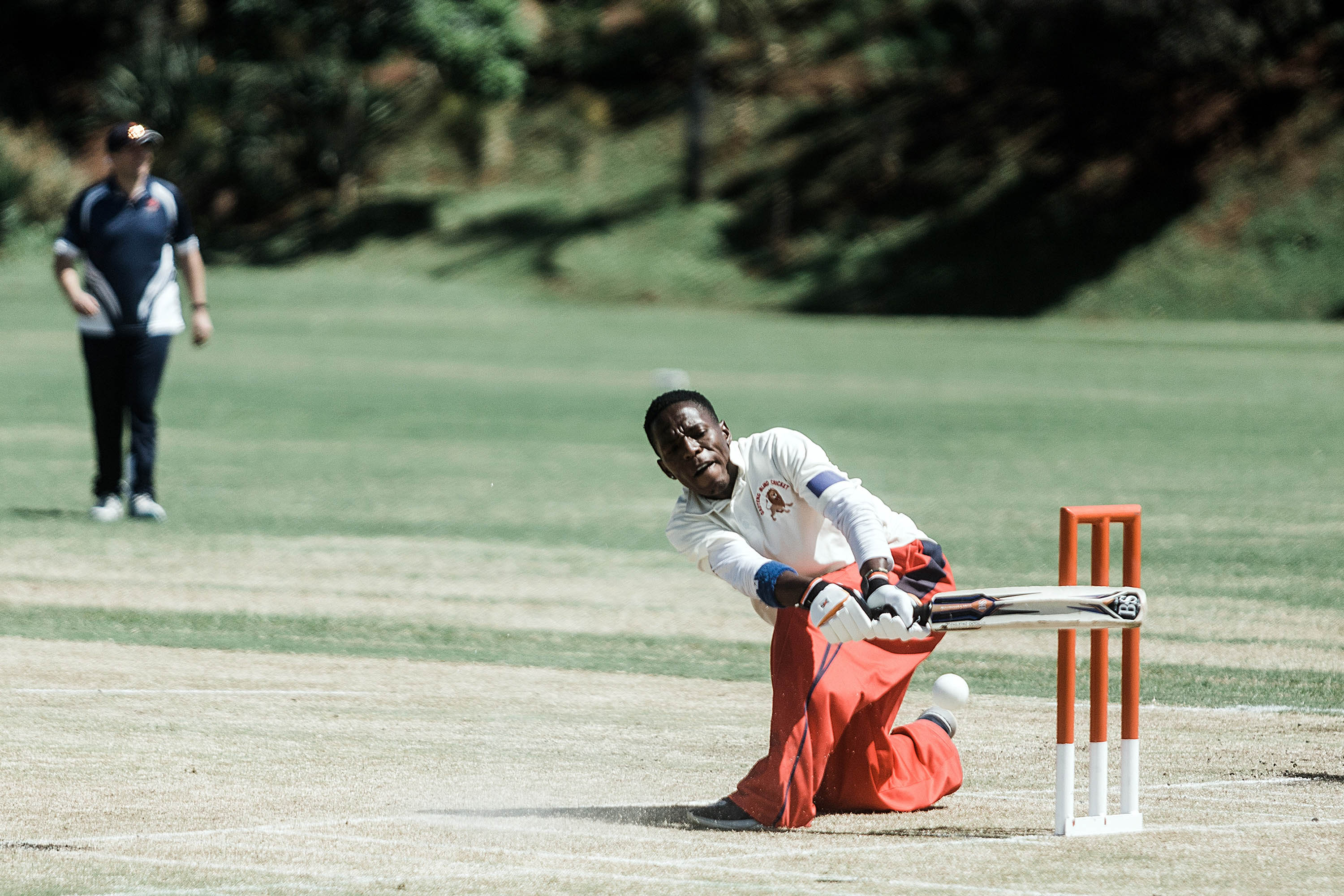 25 September 2019: A batsman from Central Gauteng in red hits the ball during a game against Northern Gauteng.