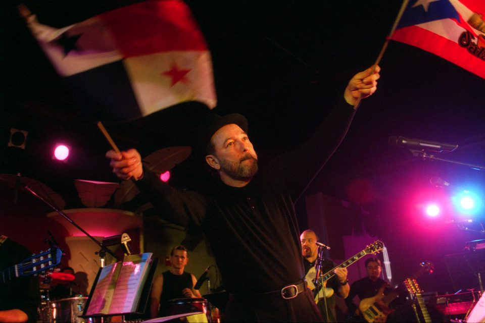15 November 2002: Rubén Blades performing at the Copacabana nightclub in New York. (Photograph by Hiroyuki Ito/Getty Images)