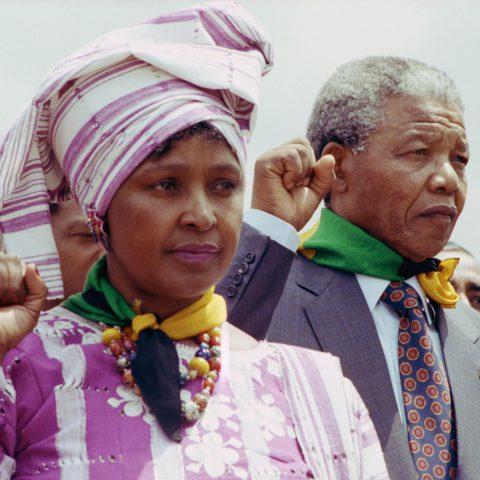 20 June 1990: Nelson Mandela and Winnie Madikizela-Mandela. (Photograph by David Turnley/Corbis/VCG via Getty Images)