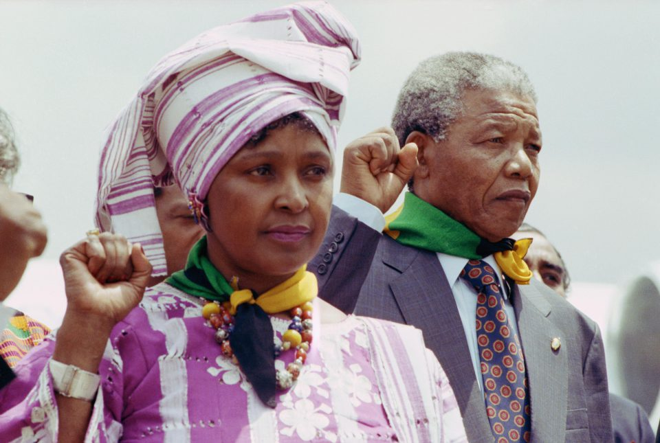 20 June 1990: Nelson Mandela and Winnie Madikizela-Mandela. (Photograph by David Turnley/Corbis/VCG via Getty Images)