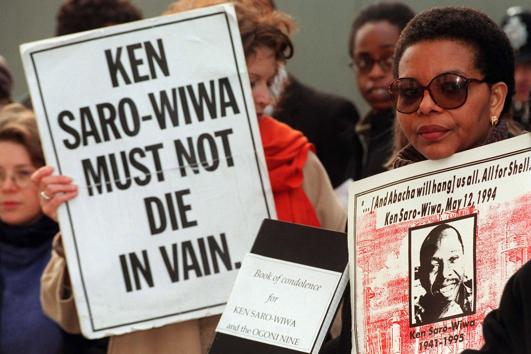 10 November 1995: Environmental rights activist and writer Ken Saro-Wiwa was executed in Nigeria, despite protests from the international community. (Photograph by Stefan Rousseau PA Images/PA Images via Getty Images)
