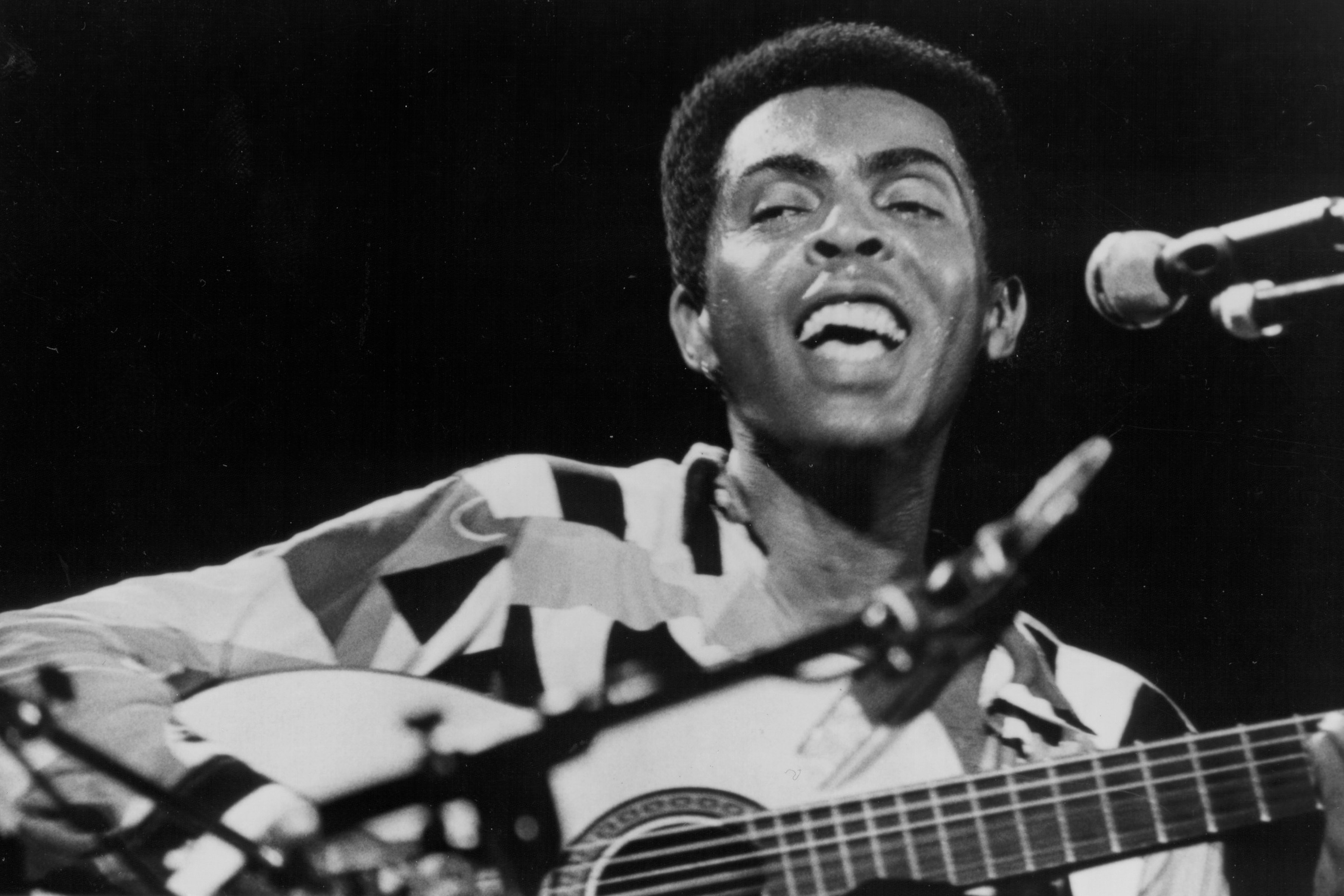 Circa 1970: Gilberto Gil was on the frontline of the tropicalismo movement in Brazil. (Photograph by Michael Ochs Archives/Getty Images)