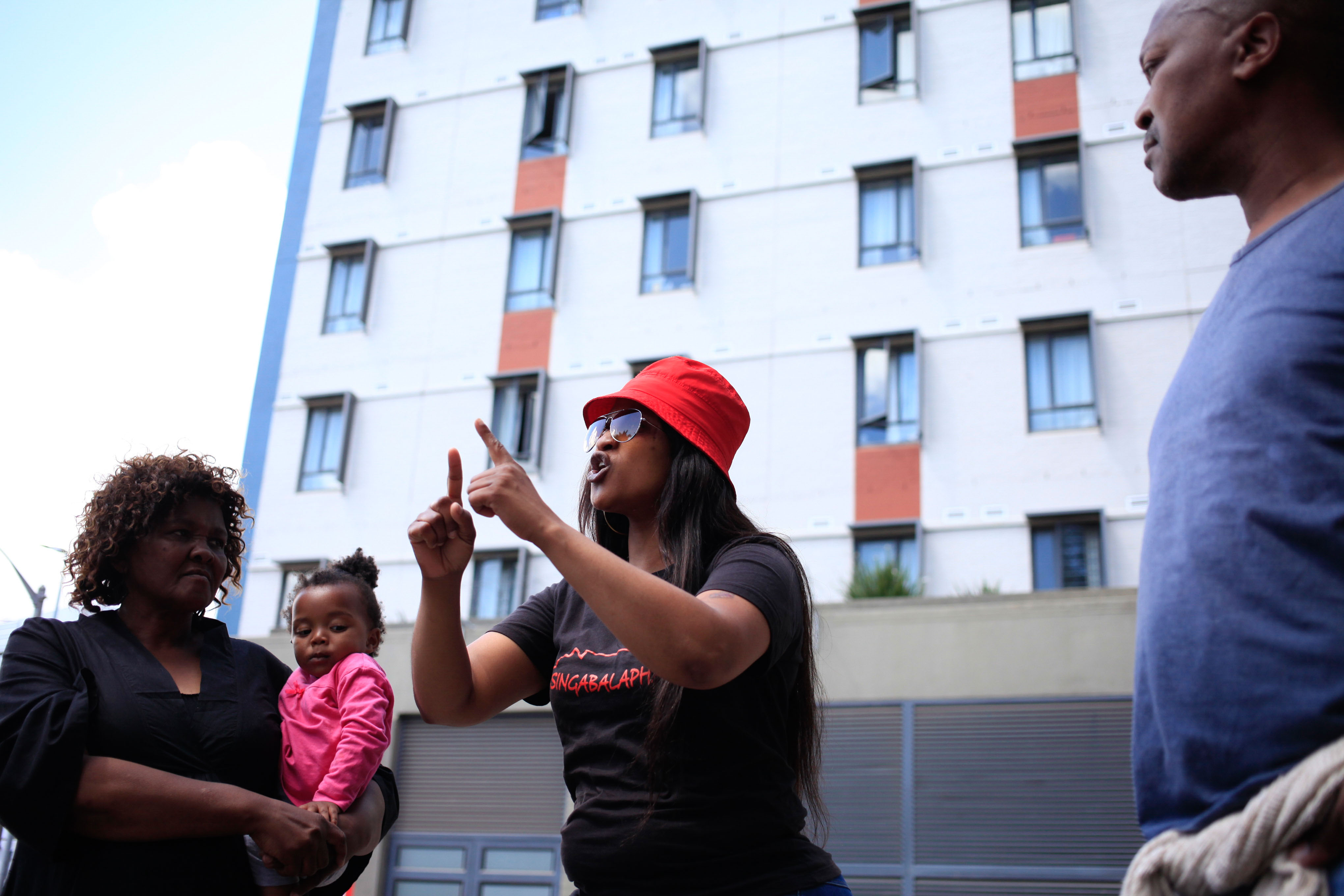 21 October 2019: Salonica Mbambani describing the forcible eviction in which they were given 15 minutes to leave.