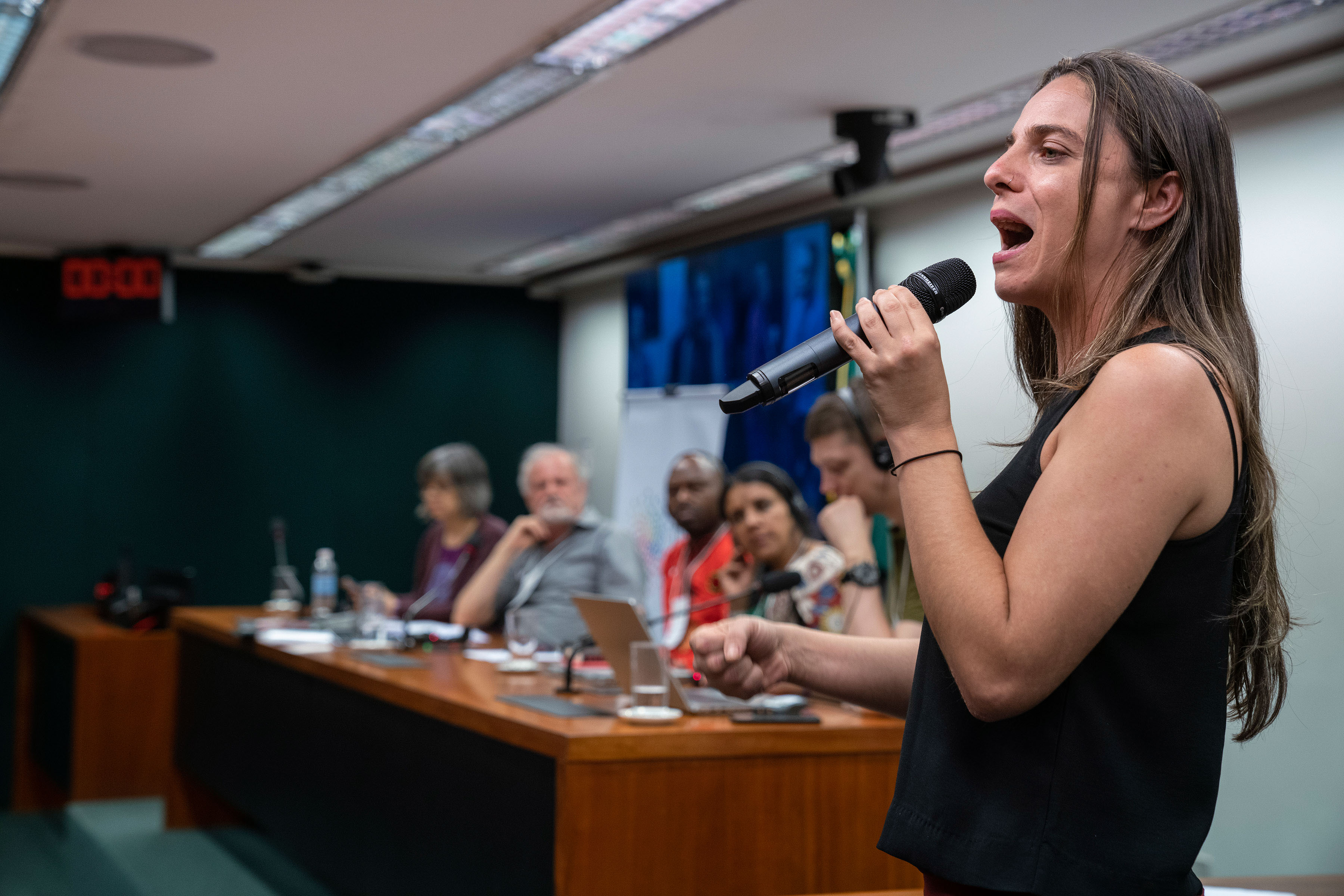12 November 2019: Brazilian politician Fernanda Melchionna said a military coup was taking place in Bolivia with the possible help of foreign powers, including Brazil, and that the economic elite in Bolivia were leading it.