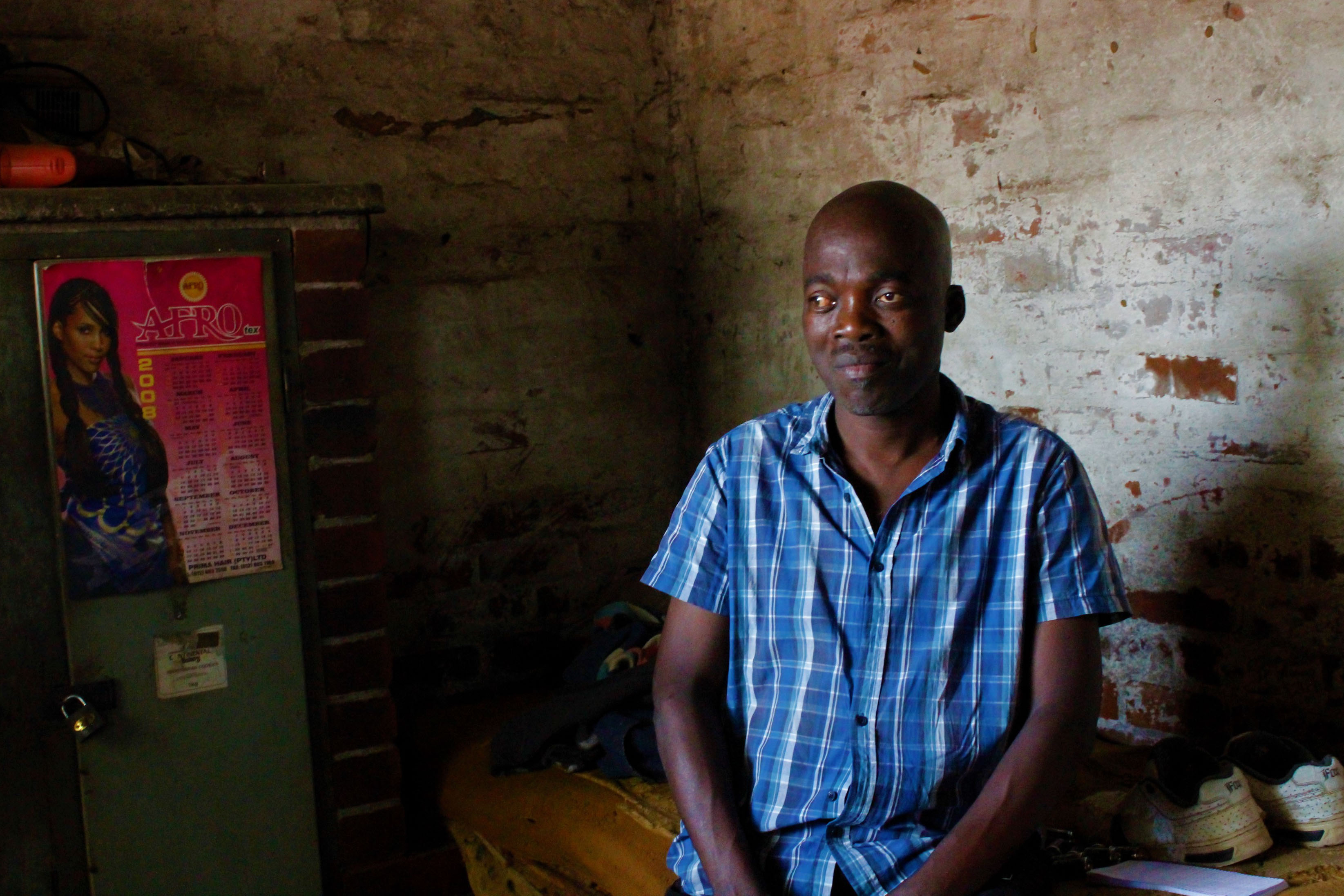17 October 2019: Muziwokuthula Ngidi, 54, has been a resident at KwaMashu Hostel for 30 years. His father also came to the hostel to find work.