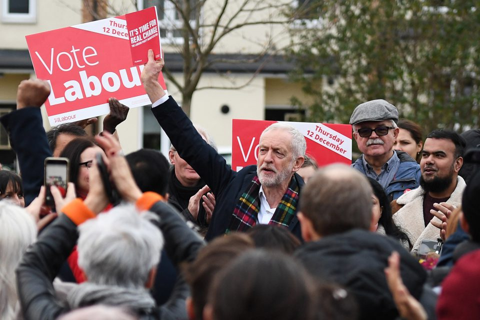 24 November 2019: Labour leader Jeremy Corbyn speaks to people as he campaigns in Thurrock, England. (Photograph by Leon Neal/Getty Images)