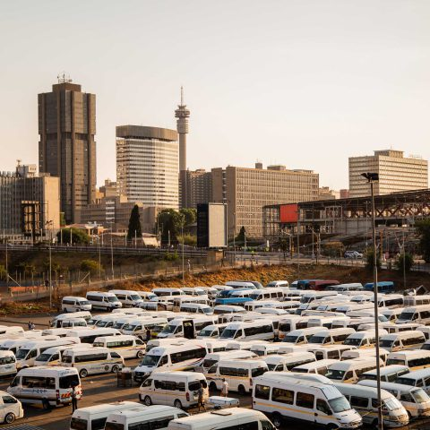 24 October 2019: The morning commuter rush at Bree Taxi Rank in Johannesburg's central business district. (Photograph by Noncedo Gxekwa)