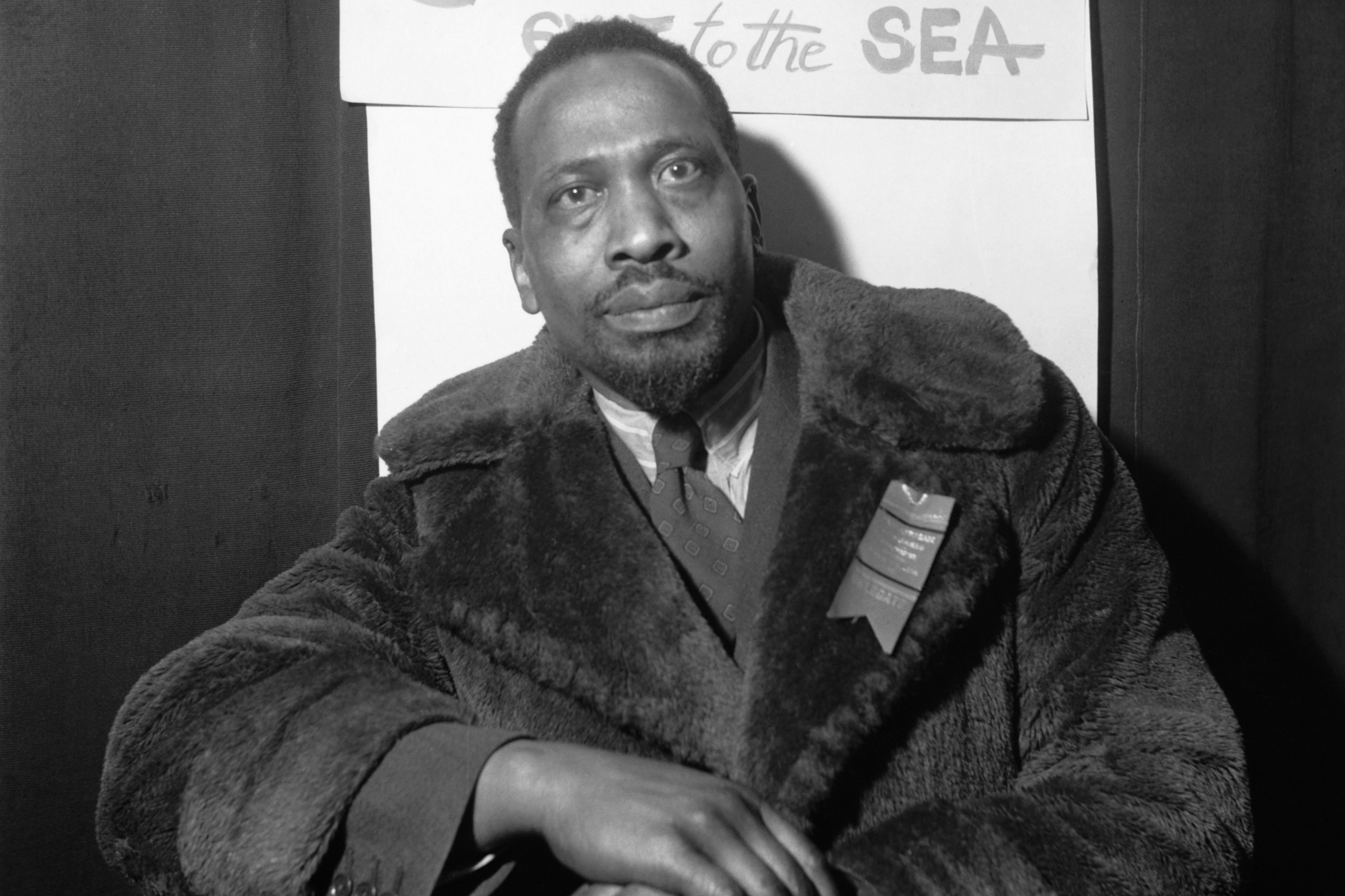 October 1945: Kenyan politician and later the first president of the Republic of Kenya Jomo Kenyatta at the Pan-African Congress in Manchester, England. (Photograph by © Hulton-Deutsch Collection/Corbis via Getty Images)