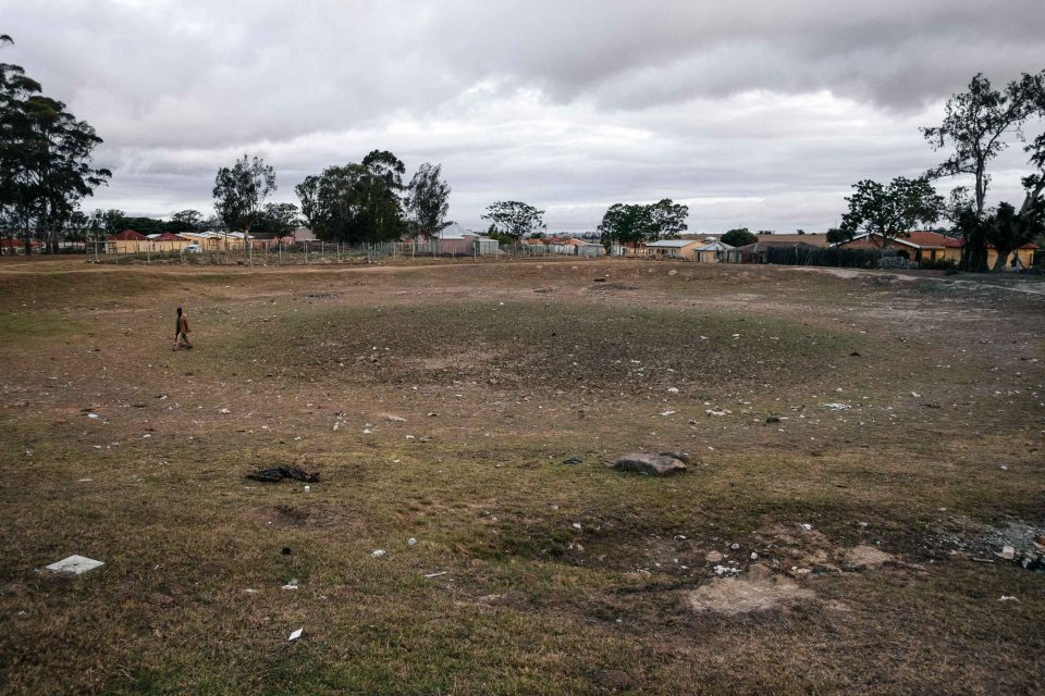 10 November 2019: The drought in the Eastern Cape since 2016 has caused many dams in the region, such as this one in the centre of Ngqwele village in Ngqushwa municipality, to dry up.