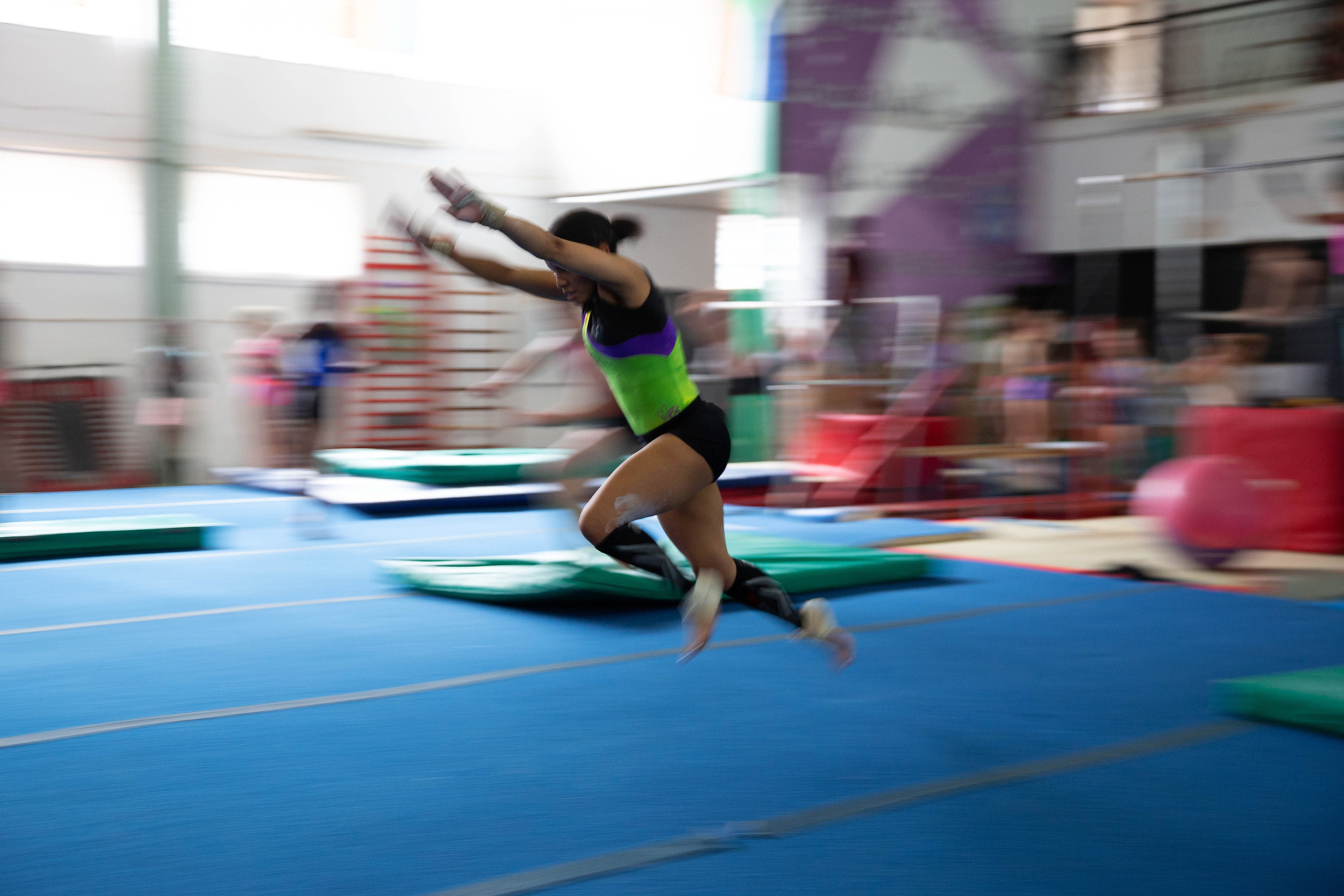19 November 2019: Caitlin Rooskrantz training at the Johannesburg Gymnastics Centre in Newlands, Johannesburg.