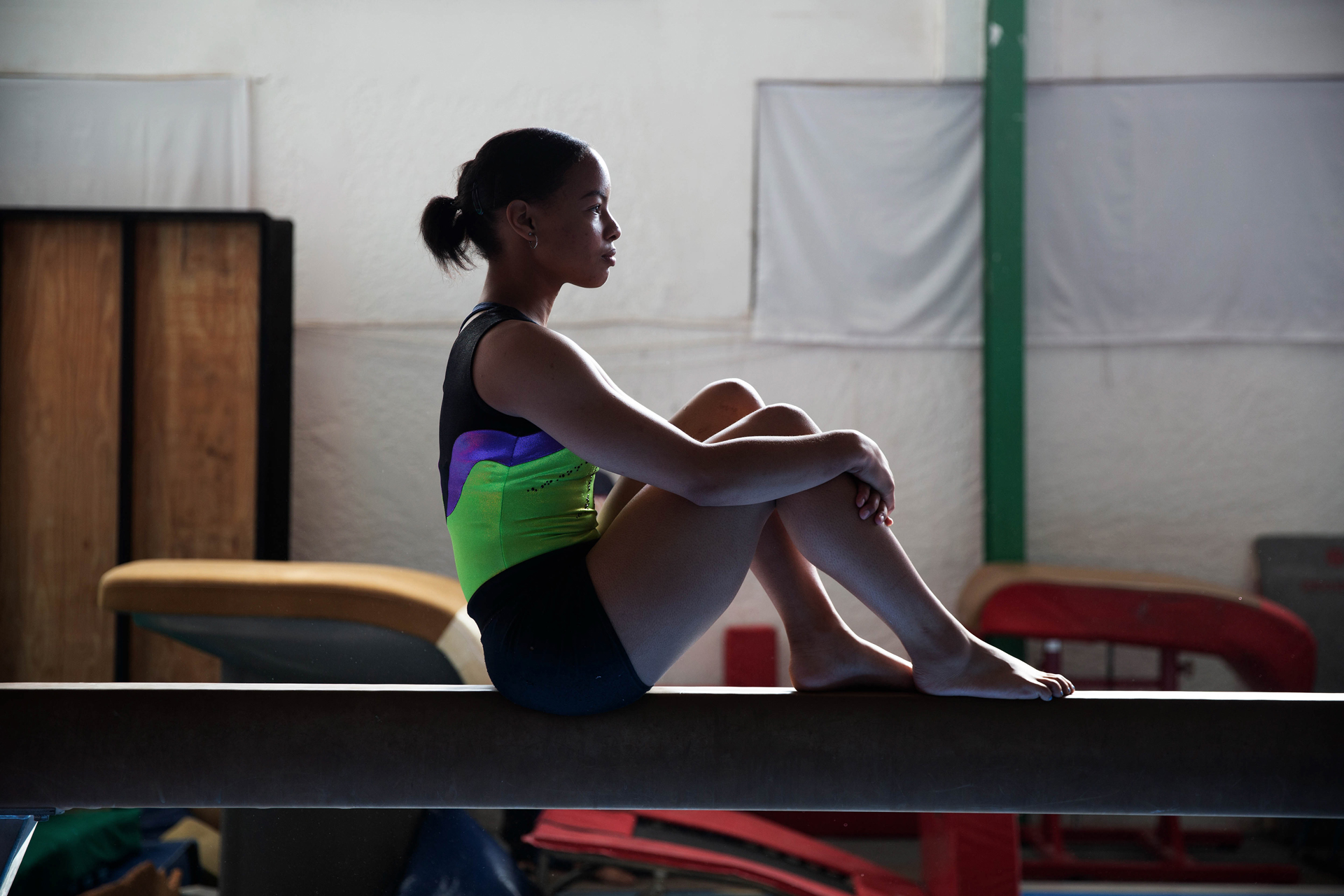 19 November 2019: Caitlin Rooskrantz had a fall on the beam at the World Championships but 'fought to the bitter end' and did a 'really good bar routine' that she believes got her into the Olympics.