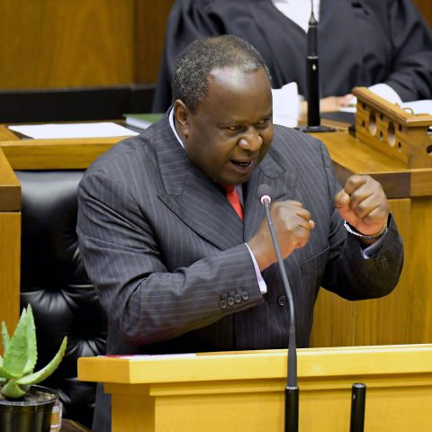 30 October 2019: Minister of Finance Tito Mboweni presenting the medium-term budget policy statement in Parliament in Cape Town, South Africa. (Photograph by Gallo Images/Jeffrey Abrahams)