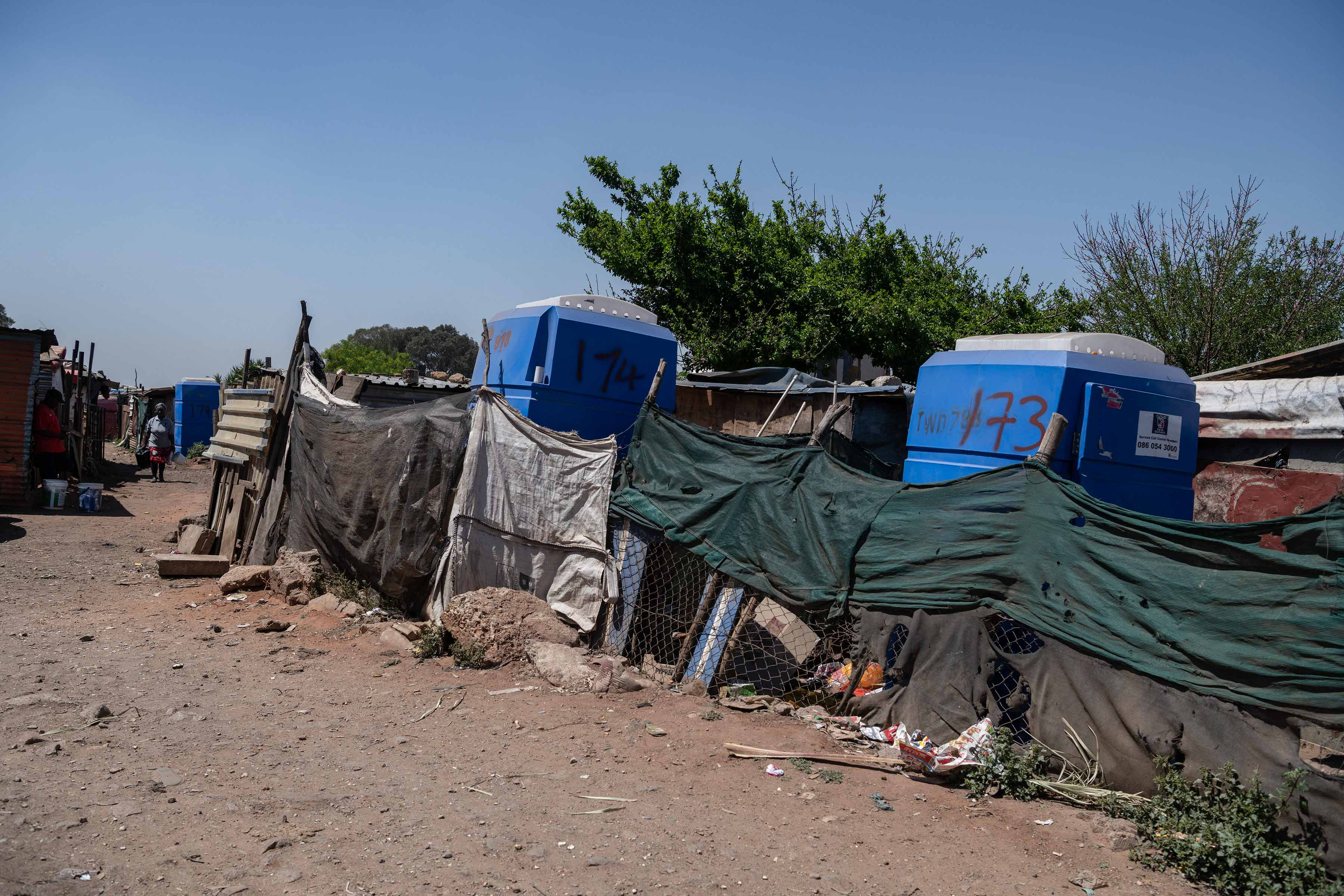 1 October 2019: Portable chemical toilets were rolled out in Makause a few years ago.
