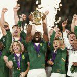2 November 2019: Captain Siya Kolisi lifts the Webb Ellis Cup after South Africa beat England to win the 2019 Rugby World Cup at the International Stadium Yokohama in Tokyo, Japan. (Photograph by Juan Jose Gasparini/Gallo Images)
