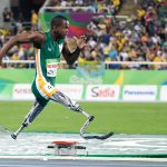 11 September 2016: Ntando Mahlangu won silver in the 200m at the Paralymic Games in Rio de Janeiro, Brazil, at the age of 14. (Photograph by Wessel Oosthuizen/Gallo Images)