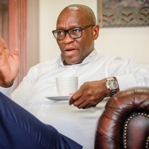 10 October 2019: SABC chief executive Madoda Mxakwe has announced a change in the state-owned broadcaster's digital policy that is in conflict with the government's digital terrestrial television system. (Photograph by Sebabatso Mosamo/Sunday Times)