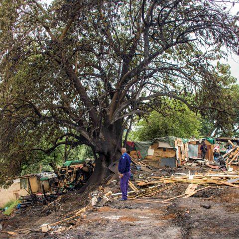 9 December 2019: Residents of the Jika Joe shack settlement in Pietermaritzburg were rendered homeless when a fire razed their houses.