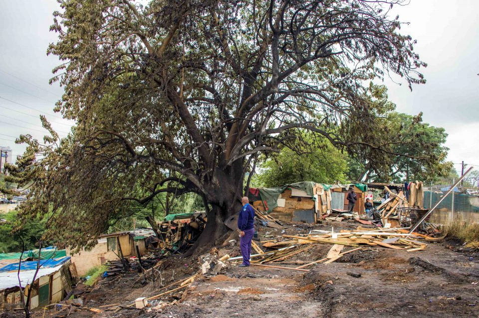 9 December 2019: Residents of the Jika Joe shack settlement in Pietermaritzburg were rendered homeless when a fire razed their houses.