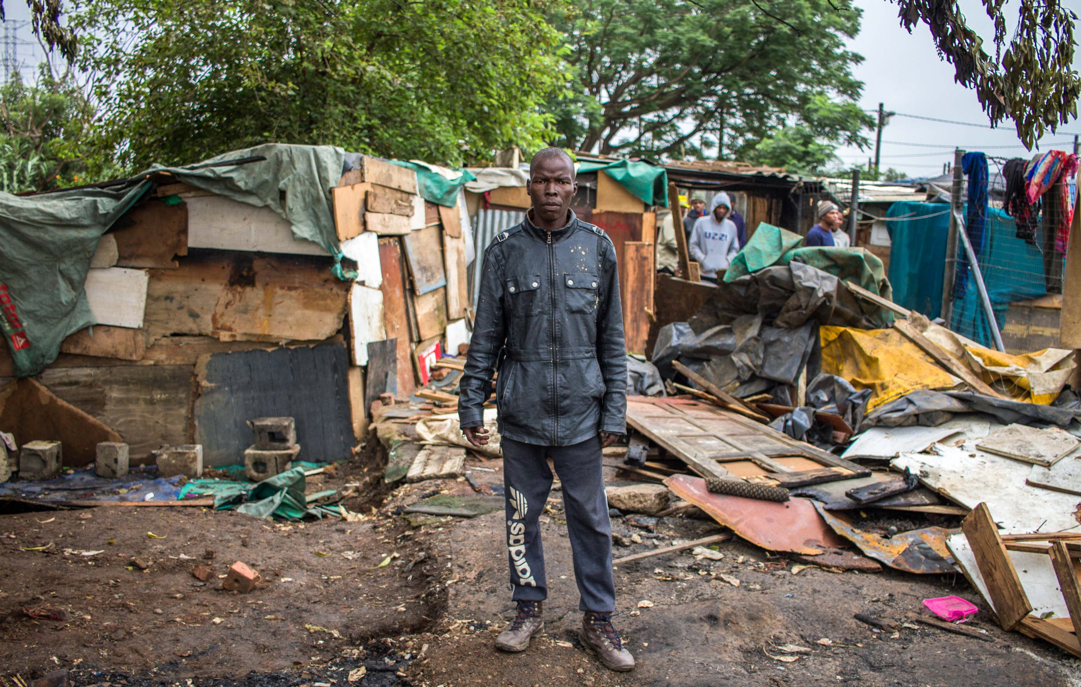 9 December 2019: Khehla Dladla, who has been tasked with managing safety in the settlement, managed to rescue a wheelchair user but could not save his shack from the flames.