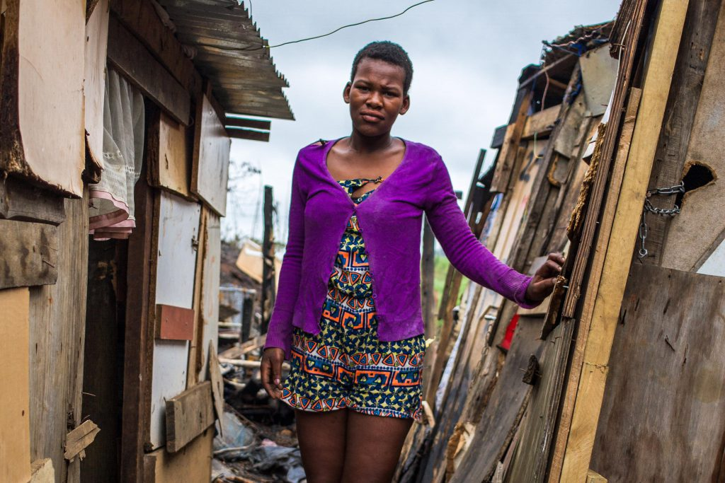 9 December 2019: Philisiwe Zulu managed to escape the fire that destroyed 97 shacks.