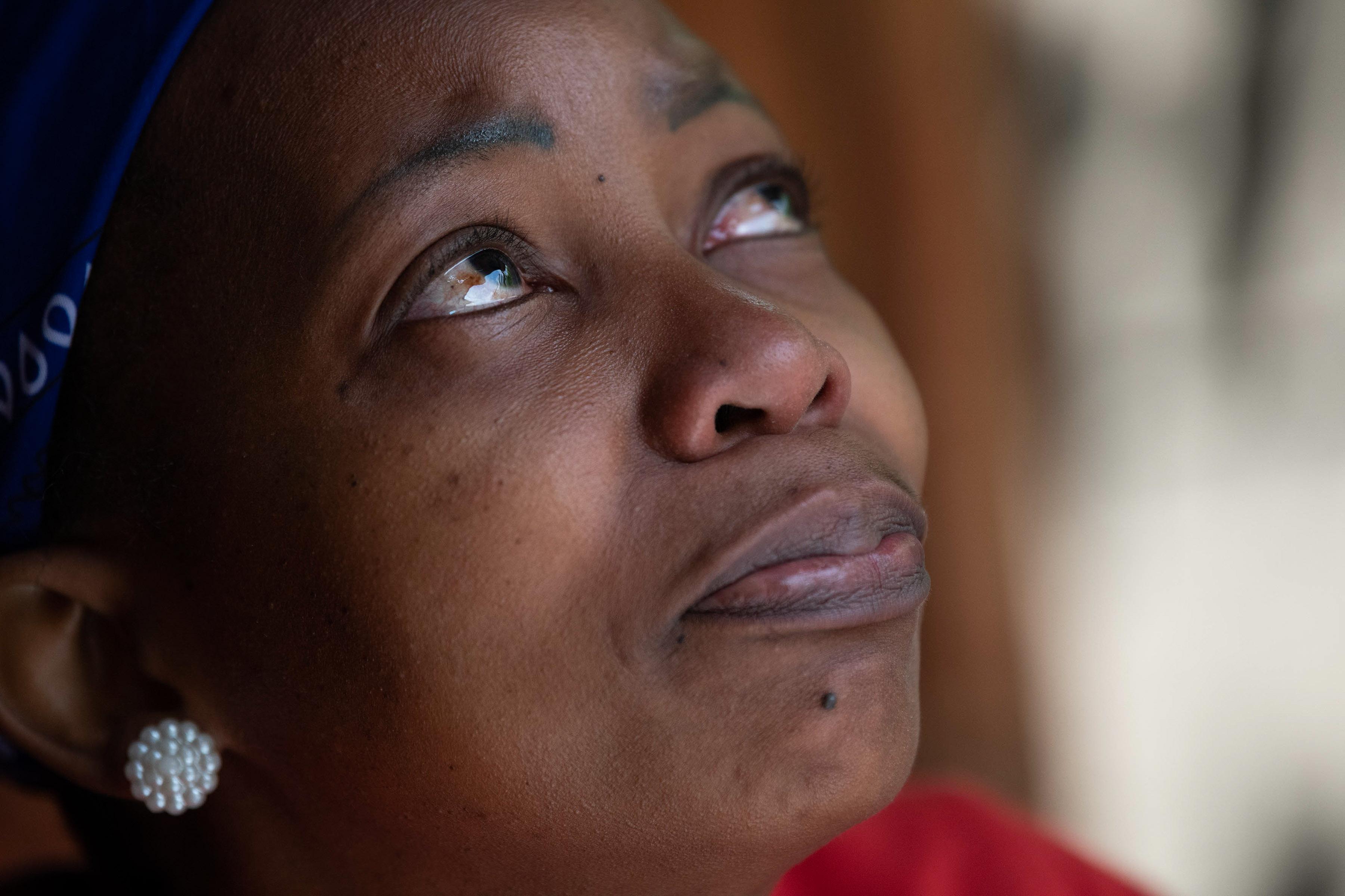 31 October 2019: Kholiwe Dlamini is a survivor of gender-based violence. (Photograph by Madelene Cronjé)