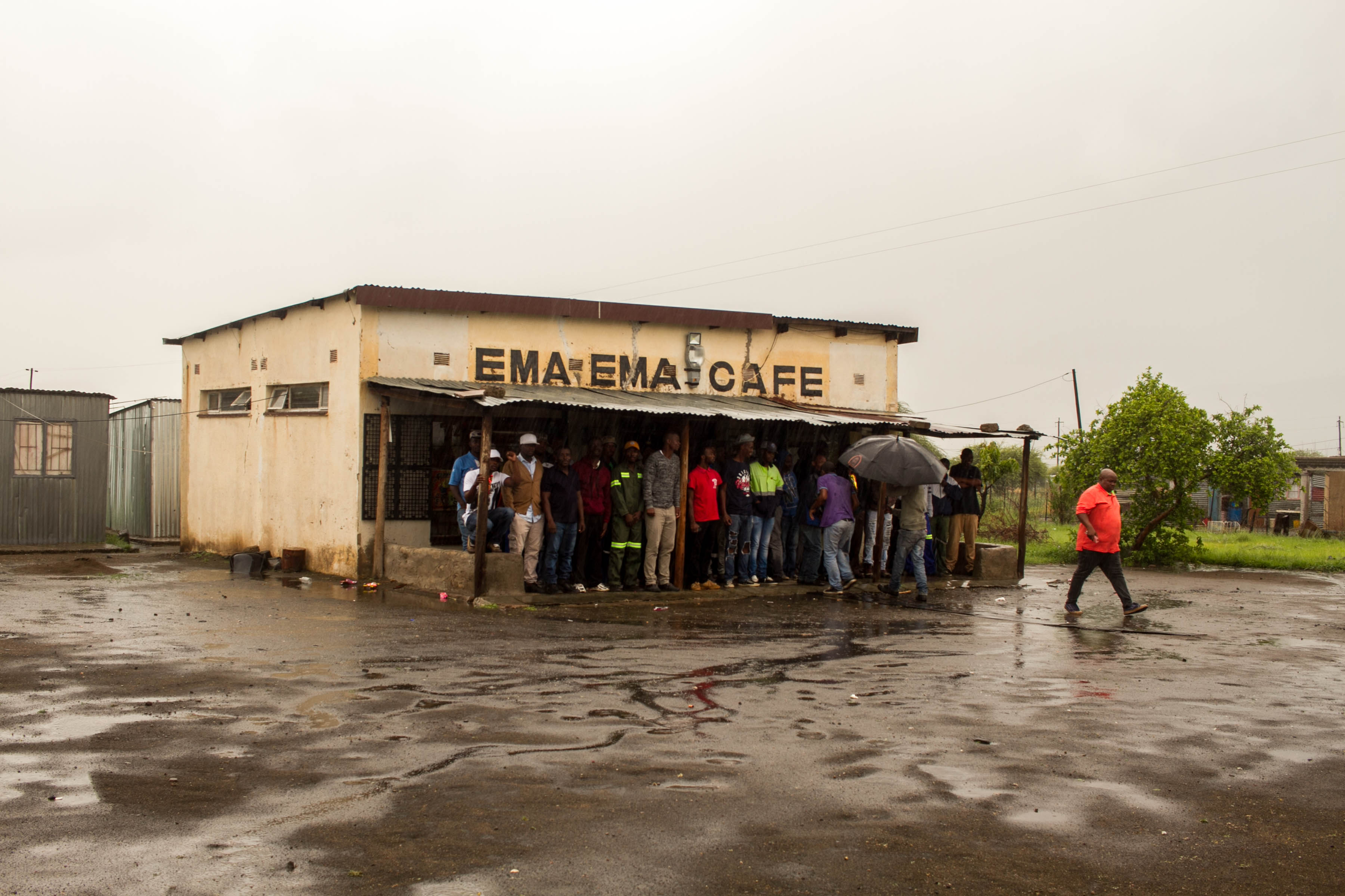 4 December 2019: When security guards at the Horizon Chrome Mine began shooting rubber bullets at protesting mineworkers, they sought refuge at the nearby Ema Ema Cafe.