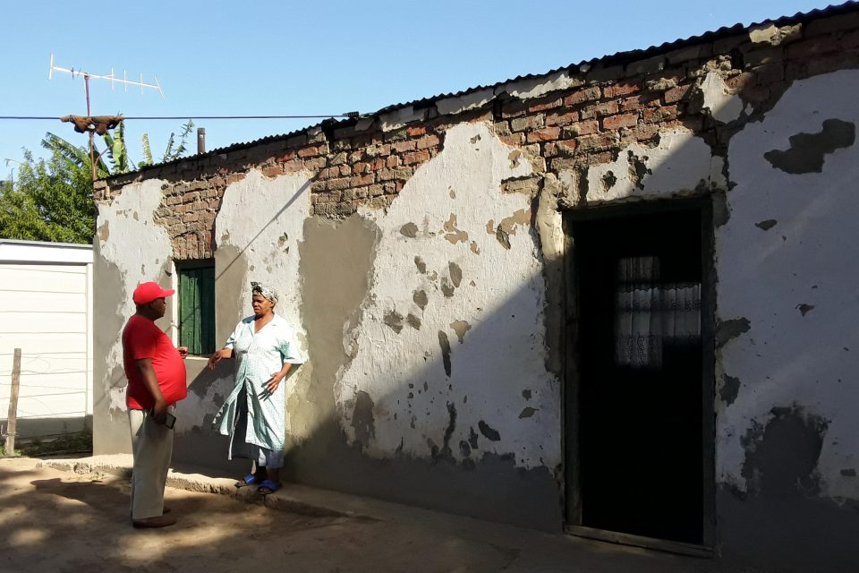 28 November 2019: Thandeka Kortjan, who used to pick citrus fruit on Elundini before she retired, was told that her house on the farm does not need to be renovated. (All photographs by Anna Majavu)