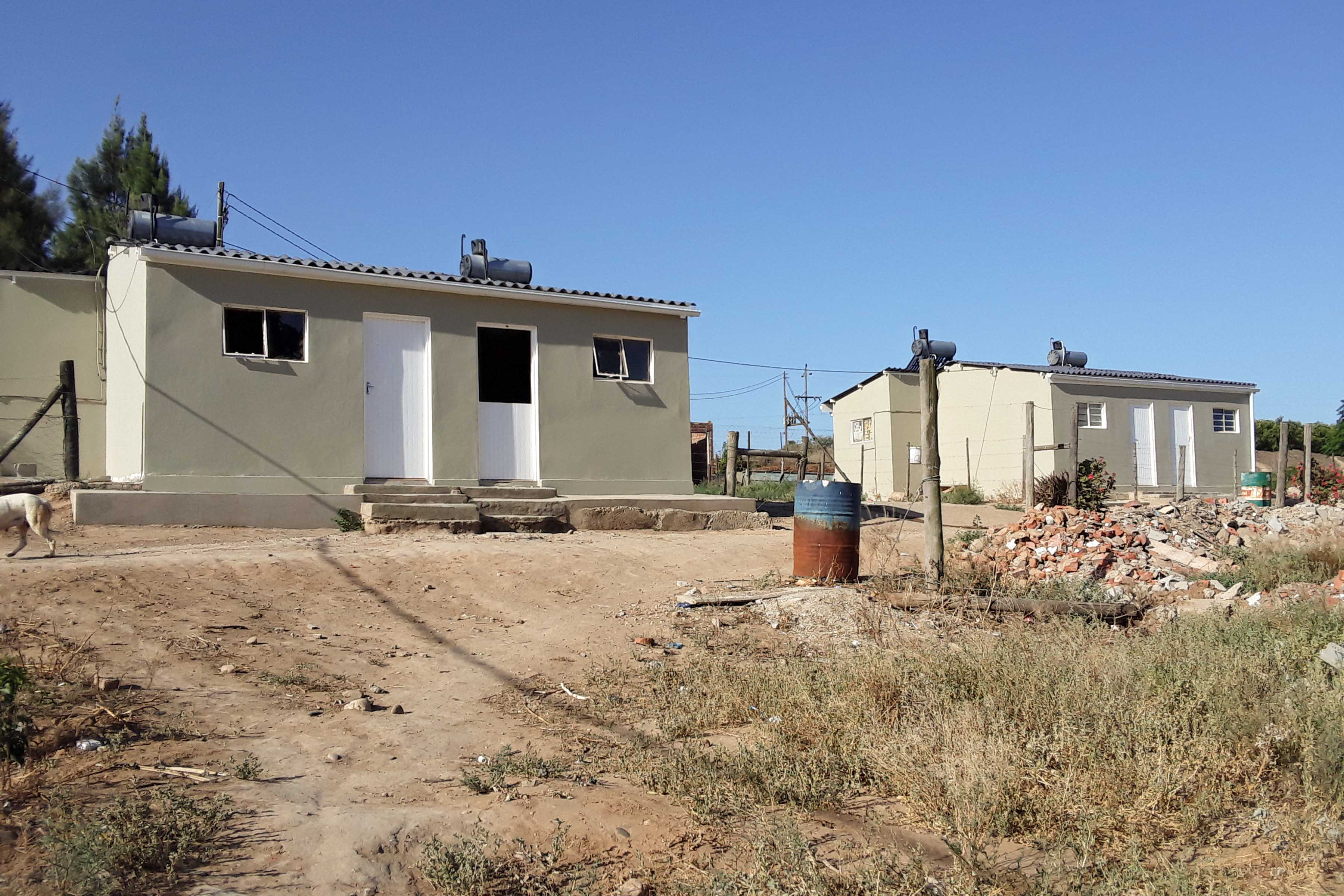 28 November 2019:  Newly renovated farm workers' houses at Elundini, in the Addo area.