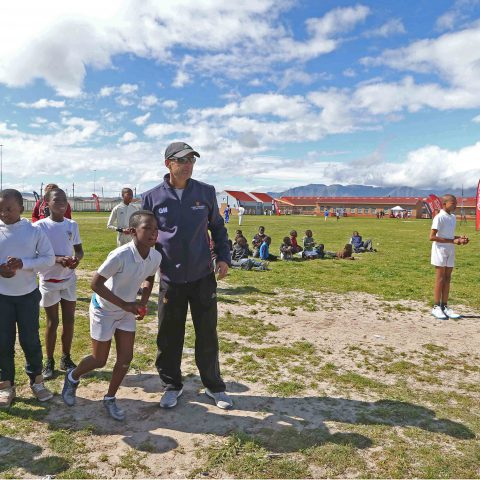 2 September 2016: Gary Kirsten in Khayelitsha, Cape Town, for the Sivile Primary School Cricket Ecosystem Handover. Sivile Primary was the fourth school in Khayelitsha to implement the system from the Gary Kirsten Foundation. (Photograph by Carl Fourie/Gallo Images)