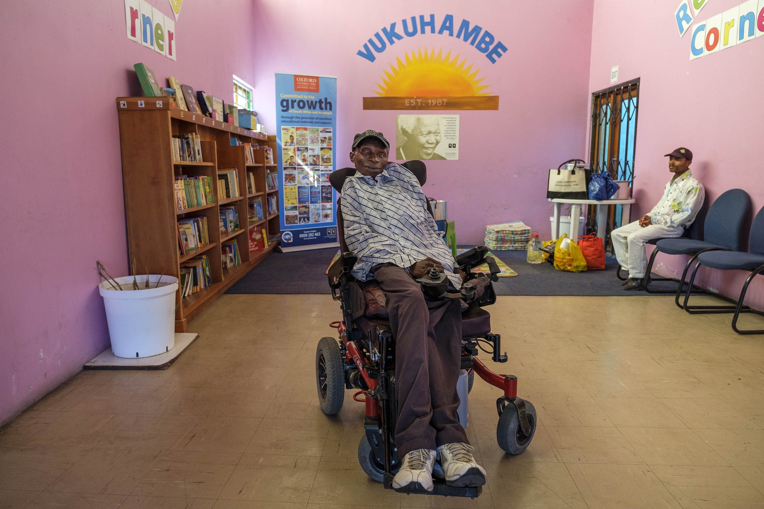22 November 2019: Thozamile Mciki at the Vukuhambe Disabled Centre in Gugulethu, Cape Town, where he is the manager.