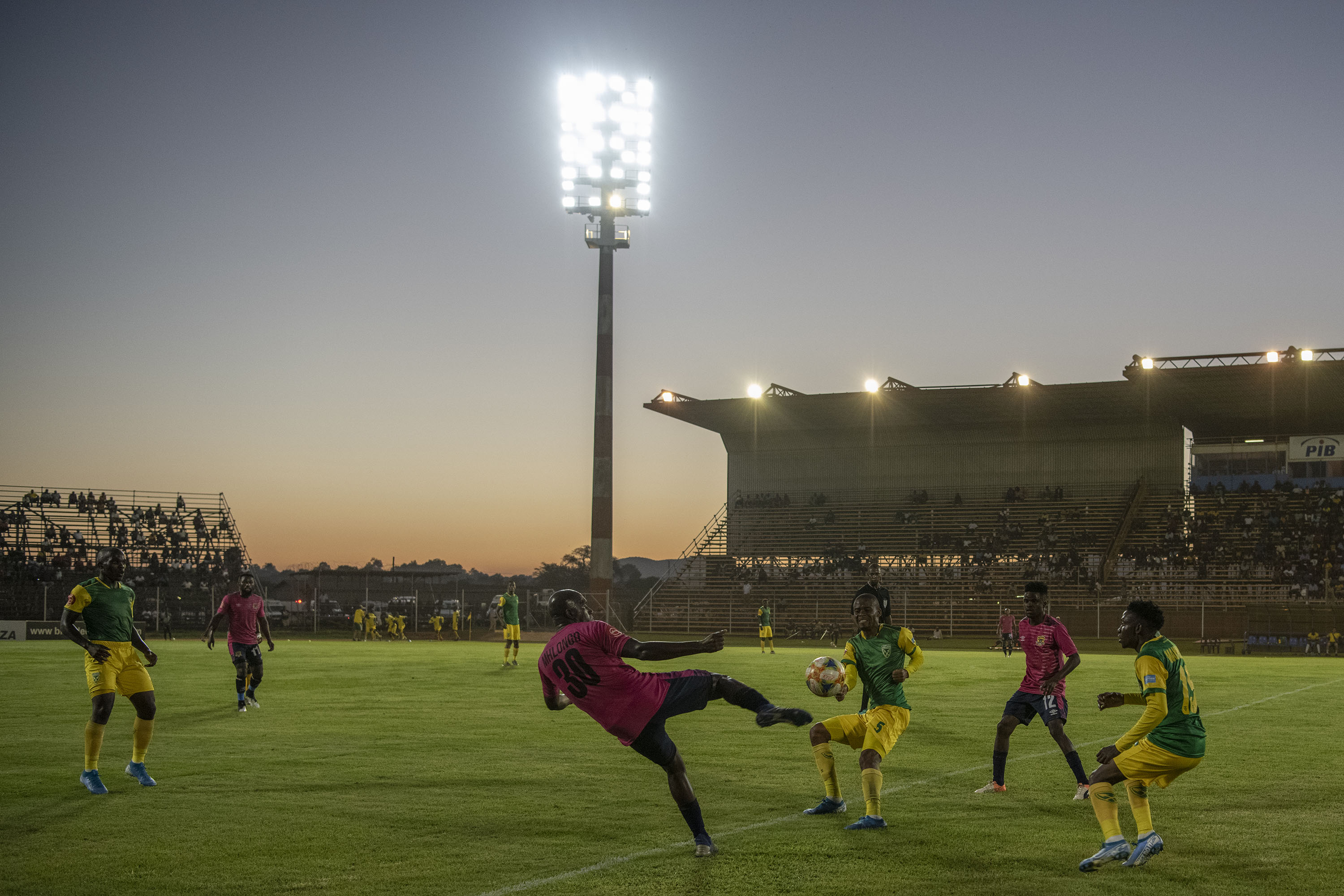 30 November 2019: Action on the pitch between Black Leopards and Golden Arrows at the  Thohoyandou Stadium in Limpopo.
