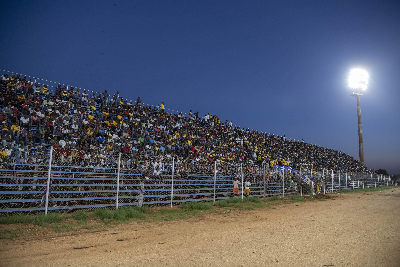 30 November 2019: Black Leopards fans on the Zamalek stand.