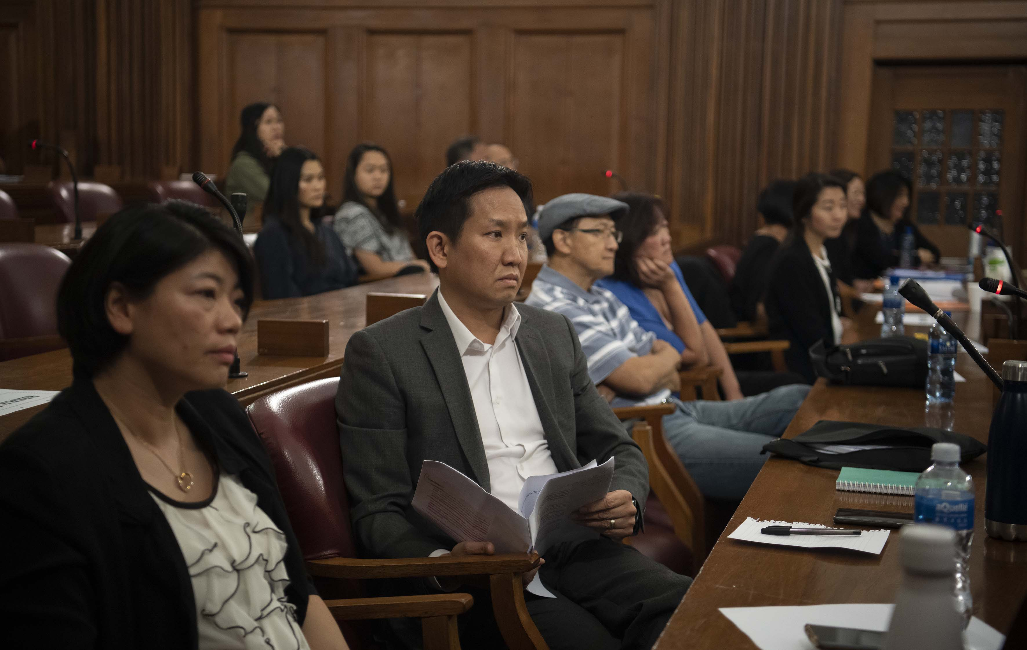 25 November 2019: Centre, The Chinese Association chairperson Erwin Pon in the Johannesburg High Court after the anti-Chinese hate speech case resumed.