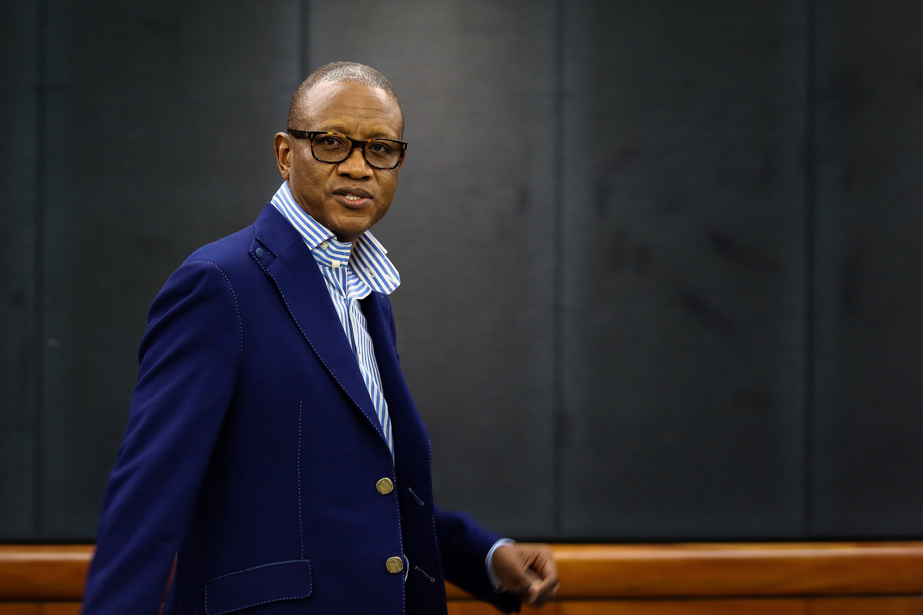 11 December 2014: Fana Hlongwane denied any involvement in or knowledge of corrupt activities relating to the controversial arms deal when he eventually testified at the Seriti commission. (Photograph by Gallo Images/The Times/Moeletsi Mabe)
