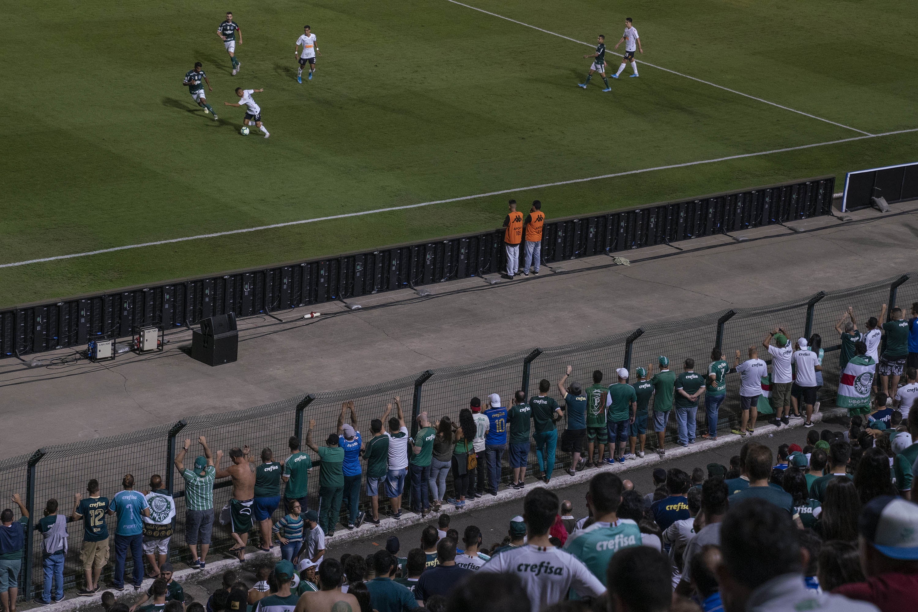 10 November 2019: The recent Paulista Derby between São Paulo rivals Palmeiras and  Corinthians at the Estadio Municipal stadium. (Photograph by Ihsaan Haffejee)