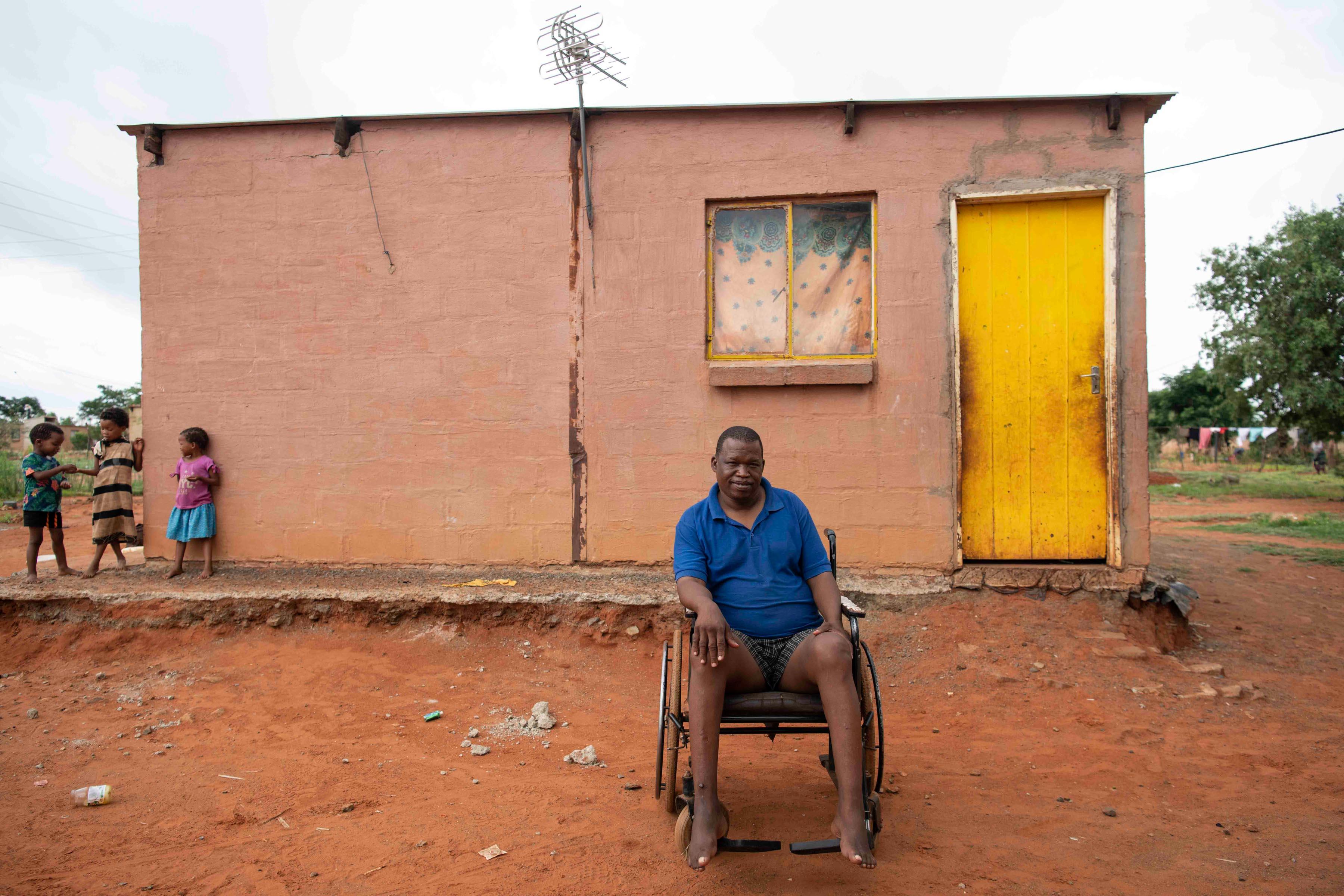 8 January 2020: Community leader Nepa Katombera outside his house. He said the Khoi-San feel invisible.
